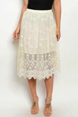 Alythea Lace Beige Skirt