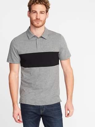 Old Navy Color-Block Slub-Knit Polo for Men