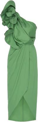Johanna Ortiz Persian Opulence One-Shoulder Cotton-Blend Dress