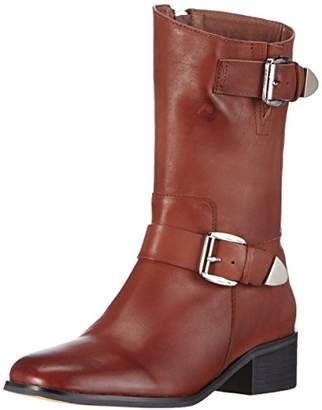 Giudecca Women's JY1510-1 Cold Lined Biker Boots Half Shaft Boots and Bootees Brown Size: 7
