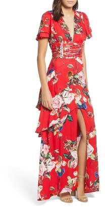 AFRM Tiered Ruffle Maxi Dress