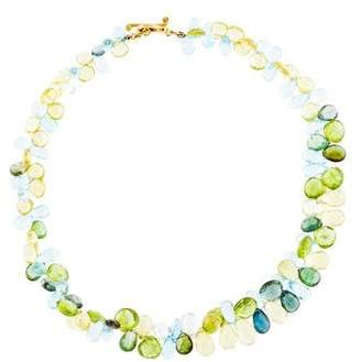 Robin Rotenier 18K Multistone Bead Strand Necklace
