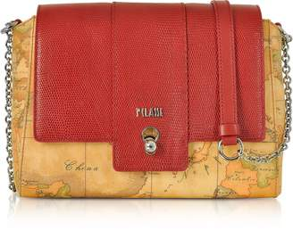Alviero Martini Blondie Geo Classic Flap Top Shoulder Bag