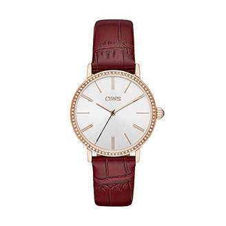 Chaps Women's 'Whitney' Quartz Stainless Steel and Leather Watch
