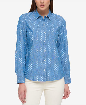 Tommy Hilfiger Cotton Chambray Utility Shirt, Only at Macy's $59.50 thestylecure.com