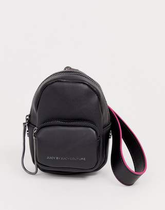 Juicy Couture Juicy aspen super mini backpack in black