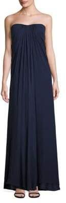 Aidan Mattox Silk Drape Gown
