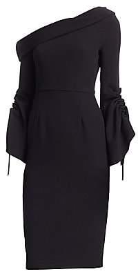 Safiyaa Safiyaa Women's Erin Asymmetrical Bell Sleeve Dress