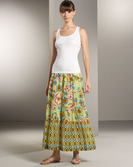 Johnny Was Collection Long Tiered Skirt