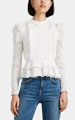 Chloé Laura Garcia Collection Women's Lace Ruffle Top - White