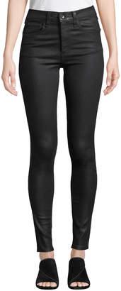 Rag & Bone Coated High-Rise Skinny Ankle Jeans