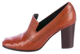 Celine Peep-Toe Leather Pumps