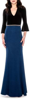 Decode 1.8 V-Neck Gown