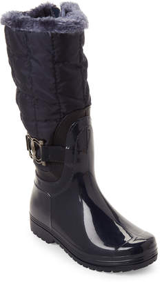 Henry Ferrera (Toddler/Kids Girls) Navy Side Buckle Tall Boots