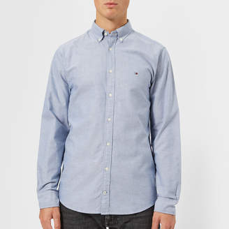Tommy Hilfiger Men's Engineered Oxford Long Sleeve Shirt