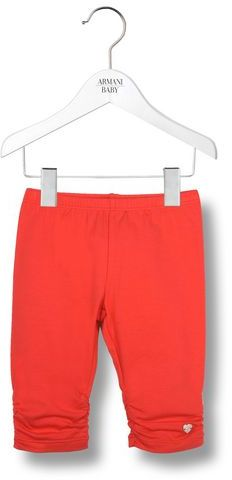Armani Junior Solid Colour Jersey Leggings