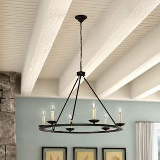 Gracie Oaks Stony Creek 6-Light Wagon Wheel Chandelier