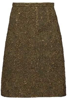 Oscar de la Renta Metallic Cloqué Pencil Skirt