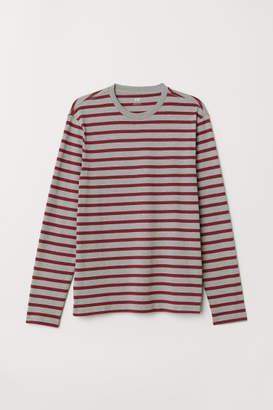 H&M Long-sleeved Shirt Regular fit - Red