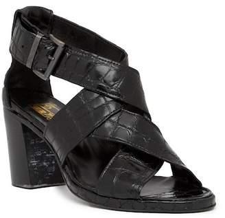 Jo Ghost Croc Embossed Leather Mid Heel Sandal