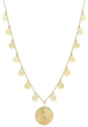 Elizabeth and James Gold Plated Spiral Pendant Ashlyn Necklace