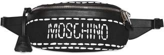 Moschino Stitched Logo Nylon Belt Bag