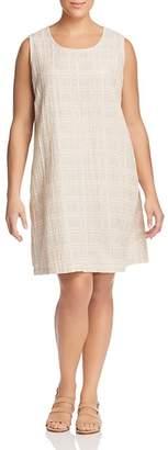 Eileen Fisher Plus Gridded Shift Dress