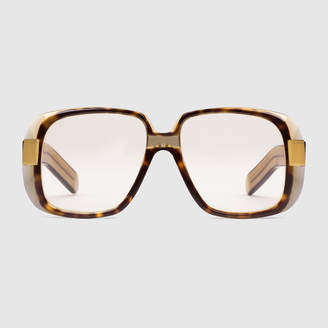 Gucci Oversize round-frame acetate glasses