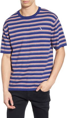 Saturdays NYC Stripe Short Sleeve Sweater