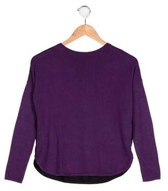 Vince Girls' Colorblock Knit Sweater