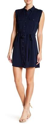 Cotton On & Co. Tilly Sleeveless Snap Button Shirt Dress