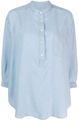 Closed grandad collar tunic shirt