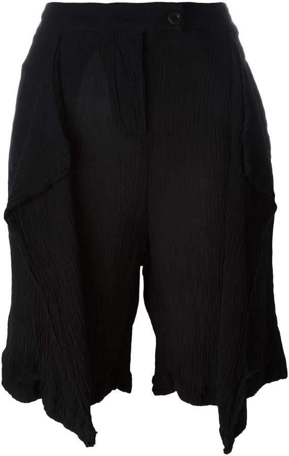 Lost & Found Ria Dunn Shorts mit drapierter Front