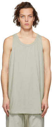 Rick Owens Grey Loose Tank Top
