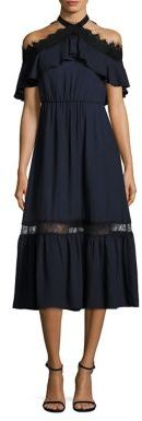 Alice + Olivia Mitsy Off-the-Shoulder Dress $440 thestylecure.com