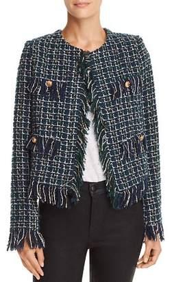 J.o.a. Fringed Tweed Jacket