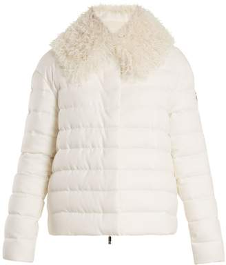 Moncler Gamme Rouge Fur-trimmed quilted-down cashmere jacket