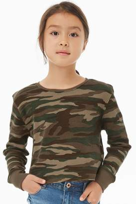 Forever 21 Girls Camo Thermal Top (Kids)