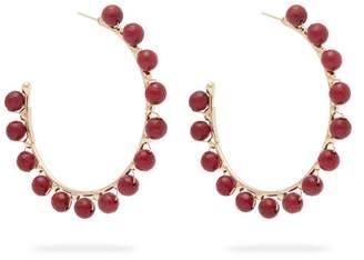 Rosantica By Michela Panero - Dada Beaded Hoop Earrings - Womens - Burgundy