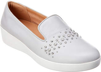 46b390479dc FitFlop Audrey Pearl Stud Leather Smoking Slipper