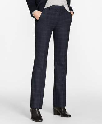 Brooks Brothers Petite Plaid Stretch-Wool Pants