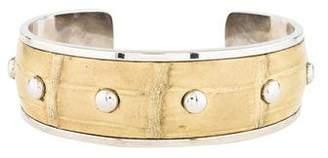 Tod's Crocodile Cuff Bracelet