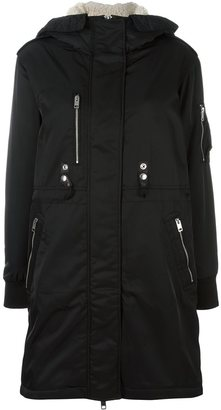 Diesel buttoned hooded mid coat $348.42 thestylecure.com