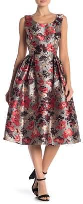 Anna Sui Metallic Floral Sleeveless Dress
