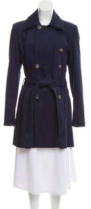Timo Weiland Double-Breasted Trench Coat Navy Double-Breasted Trench Coat