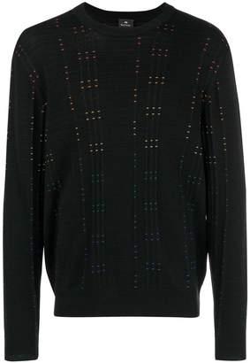 Paul Smith rainbow stitch detail sweater