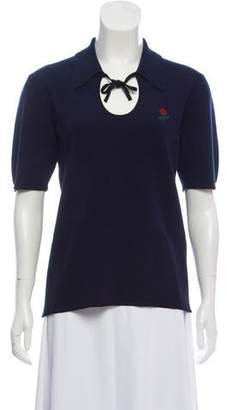 Rosie Assoulin Knit Rose Polo w/ Tags