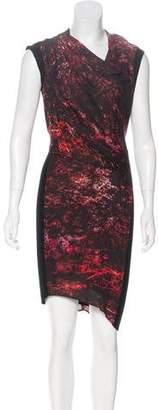 Helmut Lang Printed Asymmetrical Dress