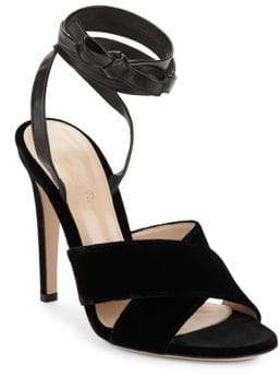 Gianvito Rossi Crisscross Ankle-Strap Sandals