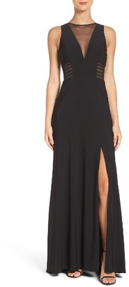 Women's Morgan & Co. Illusion Gown $96 thestylecure.com